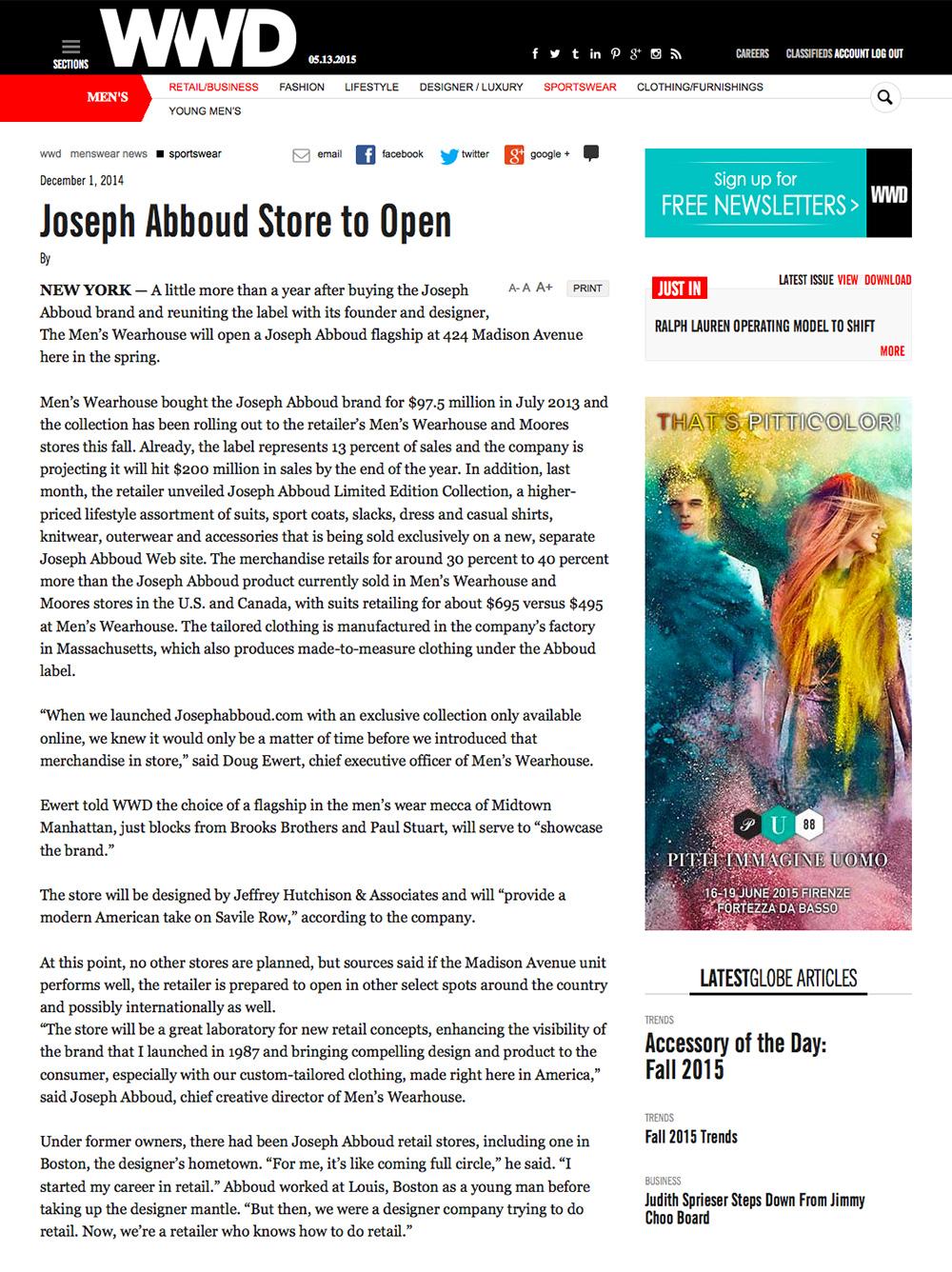 JHA Press: WWD