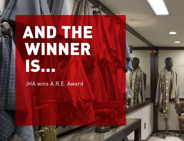 JHA wins A.R.E. Award for Joseph Abboud's Madison Avenue Flagship Store