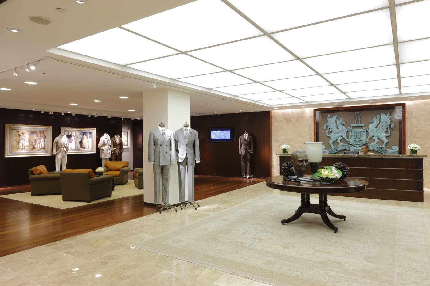jeffrey hutchison associates HMX Menswear Showroom