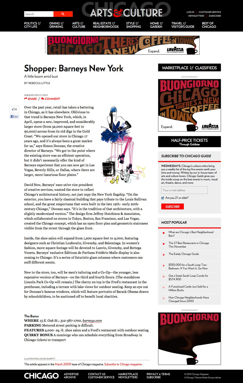 Chicago Magazine Shopper Barneys New York