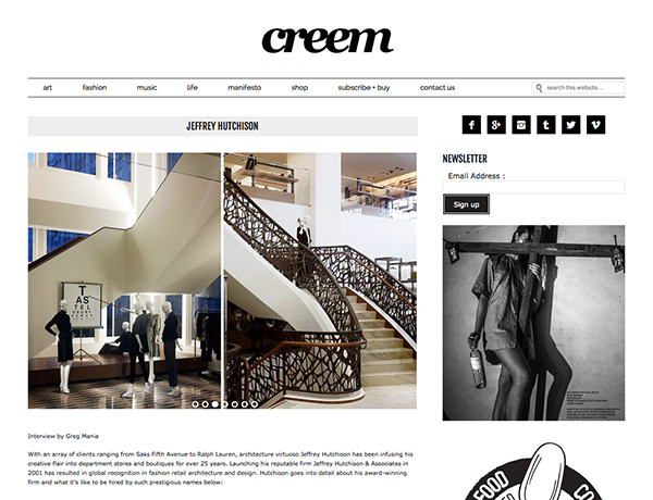 JHA in the News: Creem