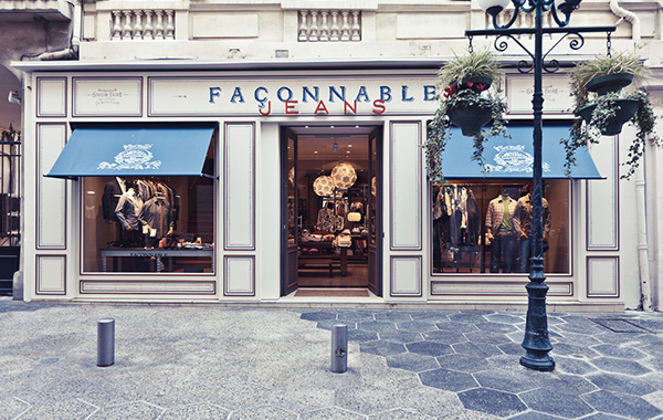 Façonnable store on the Rue Paradis in Nice, France by Jeffrey Hutchison & Associates