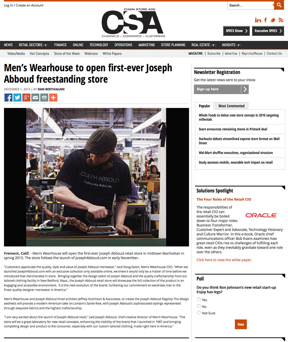 JHA Press: Chain Store Age